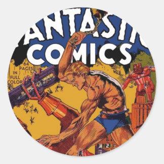 Fantastic Comics 3 Round Stickers