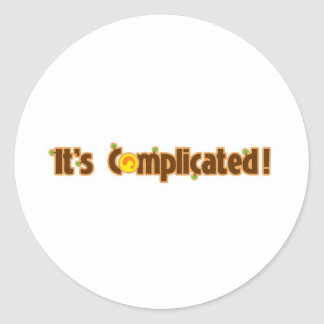 Fantastic Contraption It s Complicated Round Stickers