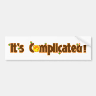 Fantastic Contraption: It's Complicated Bumper Sticker