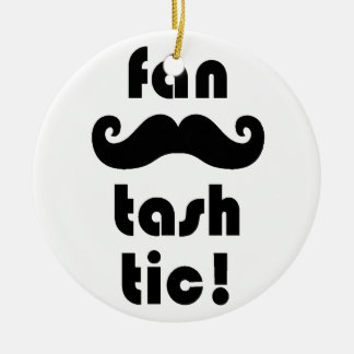 Fantastic 'Fan-Tash-Tic' Moustache Mug Ceramic Ornament