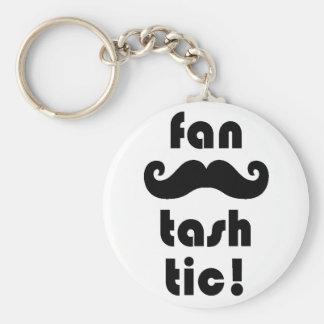 Fantastic 'Fan-Tash-Tic' Moustache Mug Keychain
