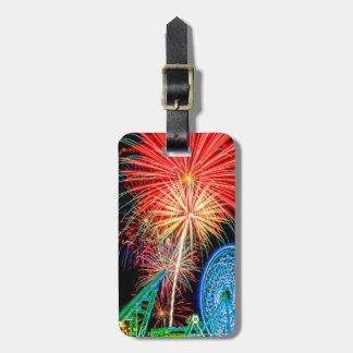 Fantastic Fireworks Luggage Tag