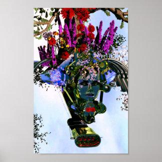 Fantastic Flower Goddess Poster