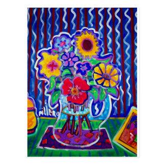 Fantastic Flowers by Piliero Postcard