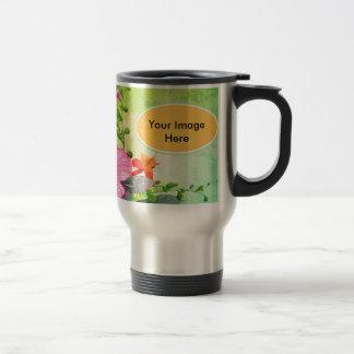 Fantastic flowers 15 oz stainless steel travel mug