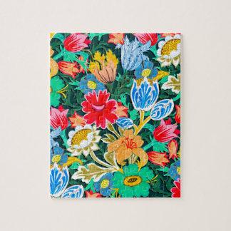 Fantastic Folk Flower Garden Jigsaw Puzzle