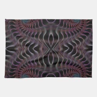 Fantastic fractal spiral kitchen towels