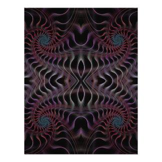 Fantastic fractal spiral letterhead
