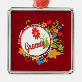 Fantastic Granny Metal Ornament
