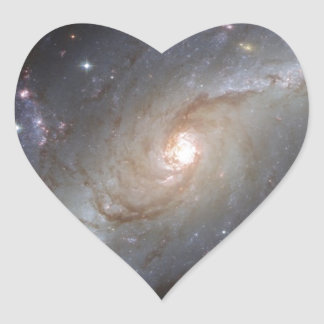 Fantastic Hubble Images 1 Heart Sticker