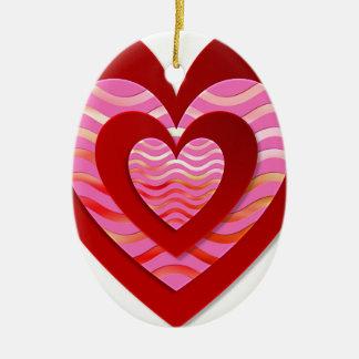 Fantastic image for love ceramic ornament