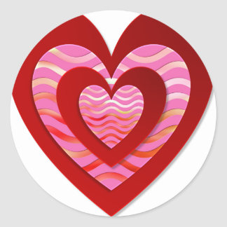 Fantastic image for love classic round sticker