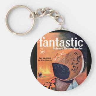 Fantastic Jun._Pulp Art Basic Round Button Keychain