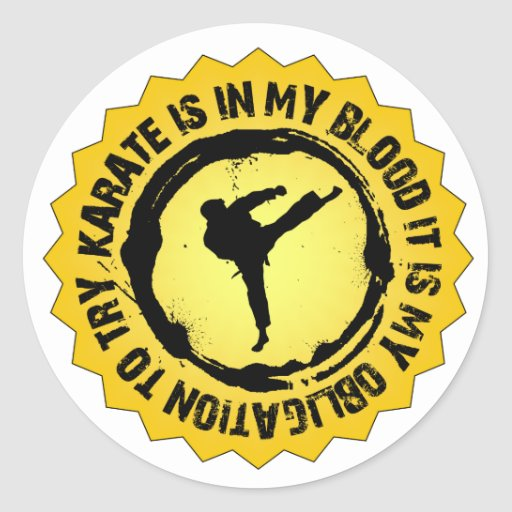 Fantastic Karate Seal Classic Round Sticker