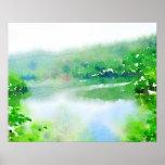 Fantastic Landscape Austria 07,watercolor Posters
