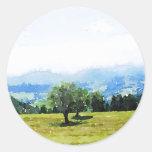 Fantastic Landscape Austria 09 watercolor Sticker