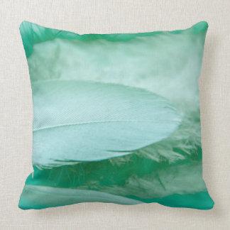 Fantastic lightgreen feather cushion