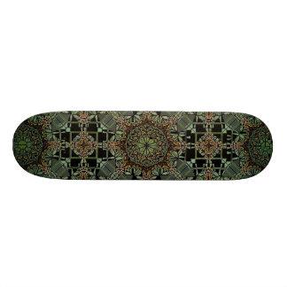 fantastic mandala design,green skate decks