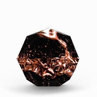 Fantastic Melted Copper Design Acrylic Award