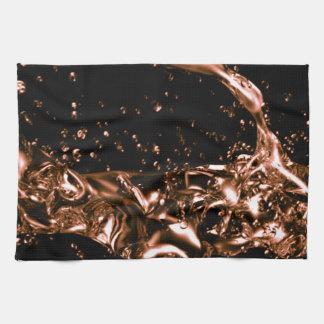 Fantastic Melted Copper Design Towels
