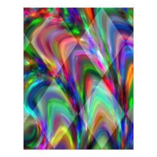 Fantastic Modern Design Colorful Diamonds Gifts Letterhead