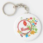Fantastic Mom Basic Round Button Keychain