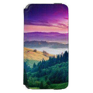 Fantastic Morning Mountain Landscape. Overcast iPhone 6/6s Wallet Case