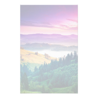 Fantastic Morning Mountain Landscape. Overcast Stationery
