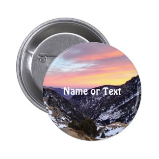 fantastic mountains 2 inch round button