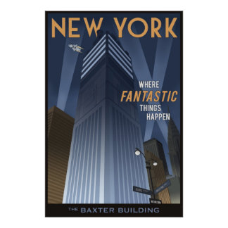 Fantastic New York Poster