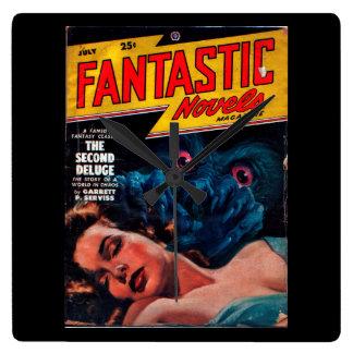 Fantastic Novels - 1948.75_Pulp Art Square Wall Clock