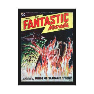 Fantastic Novels v03 n04 (1949-11.Popular)_Pulp Ar Canvas Print