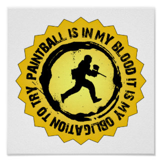Fantastic Paintball Seal Poster
