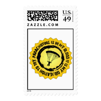 Fantastic Parachuting Seal Postage