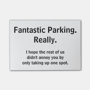 image about Parking Notes Printable referred to as Poor Parking Posting-it Notes Zazzle