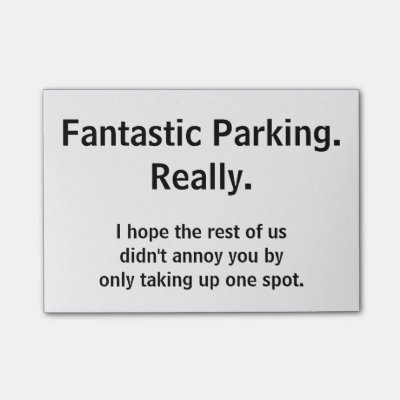 photo relating to Printable Bad Parking Notes named Terrible parking task report-it notes