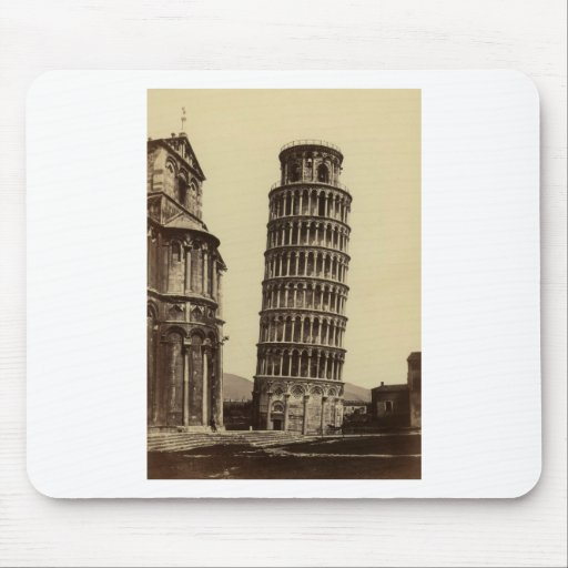 Fantastic photo of Pisa tower in 1860! Mouse Pad