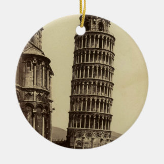 Fantastic photo of Pisa tower in 1860! Christmas Ornaments