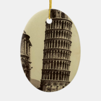 Fantastic photo of Pisa tower in 1860! Christmas Tree Ornament