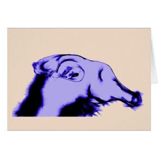 Fantastic Purple Alien Creature Card
