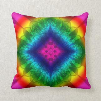 Fantastic Rainbow Diamond Polyester Throw Pillow