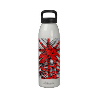 Fantastic Red Abstraction of lines Drinking Bottle