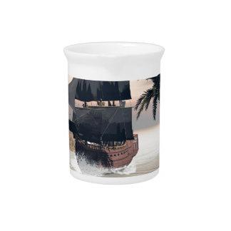 Fantastic seascape beverage pitcher