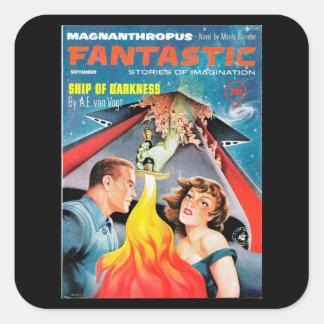 Fantastic Sept_Pulp Art Square Sticker