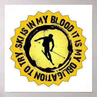 Fantastic Ski Seal Poster