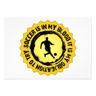 Fantastic Soccer Seal Custom Invite