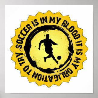 Fantastic Soccer Seal Poster