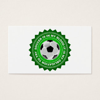 Fantastic Soccer Shield Business Card