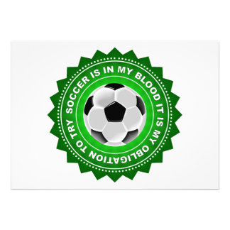 Fantastic Soccer Shield Custom Announcements