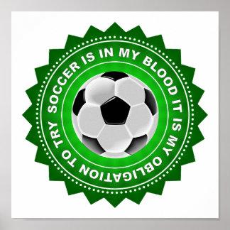 Fantastic Soccer Shield Poster